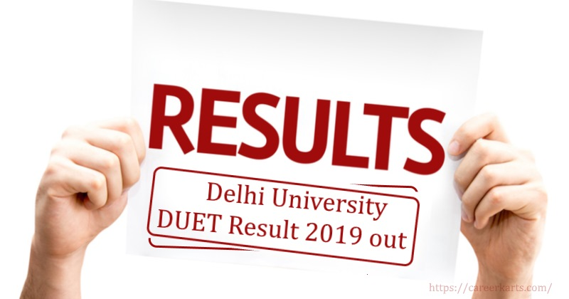 Delhi University Entrance Exam Results 2019 out Now: Click to check