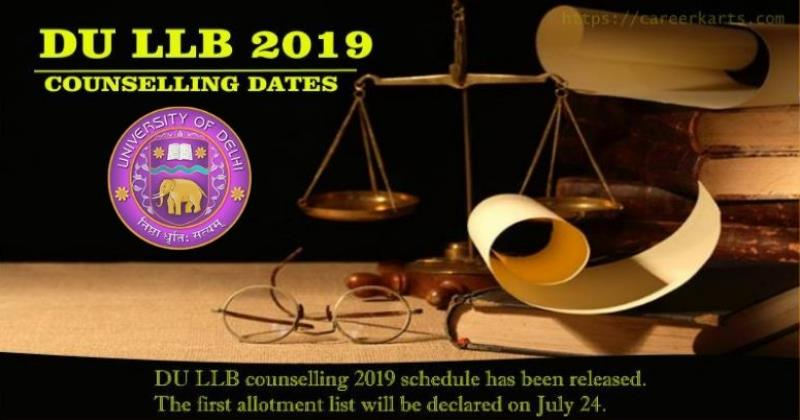 DU LLB 2019 Counselling Dates, Procedure, Fees | Careerkarts